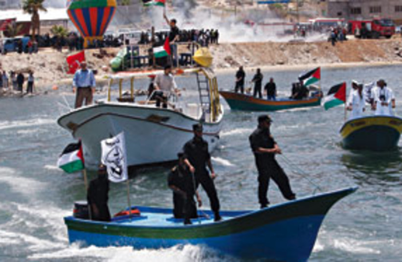 Gaza boats 311 (photo credit: Associated Press)
