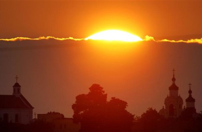 Belarus sunset (photo credit: AP)