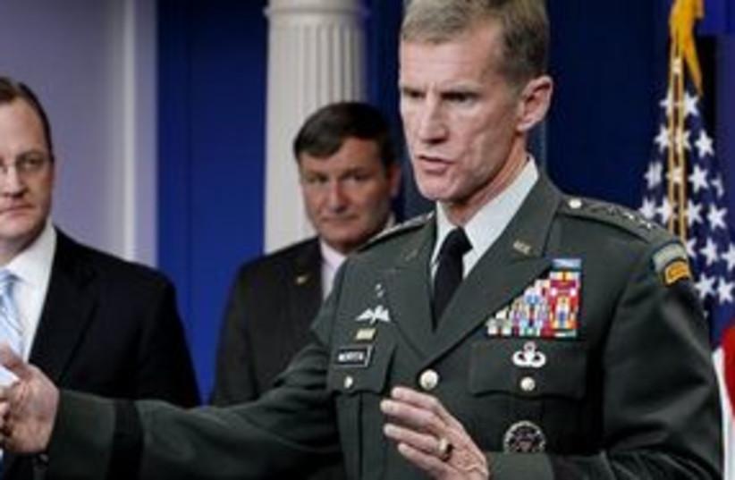mcchrystal gibbs 311 (photo credit: AP)