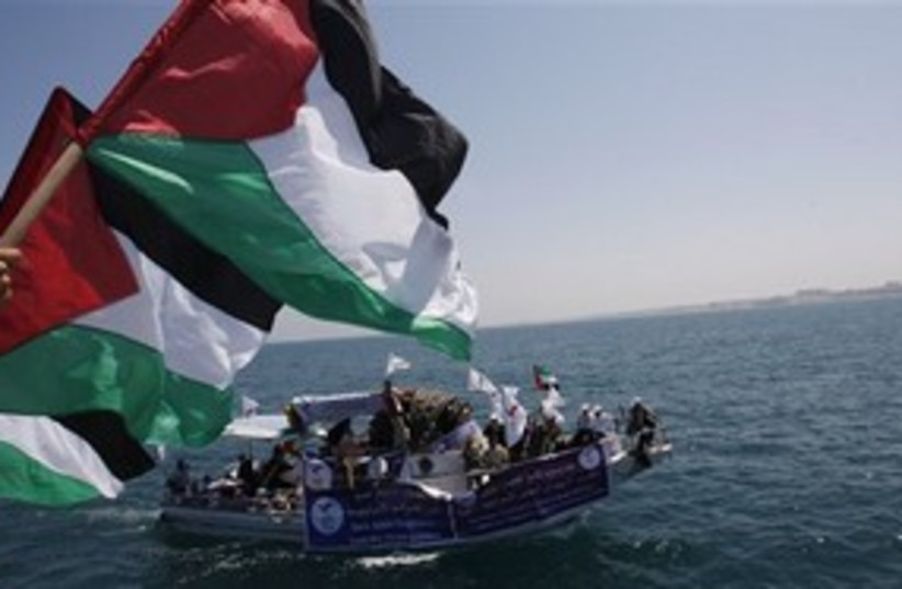 Gaza Flotilla 311 (photo credit: ASSOCIATED PRESS)
