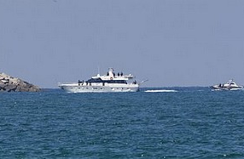 Gaza boat escort 311 (photo credit: AP)