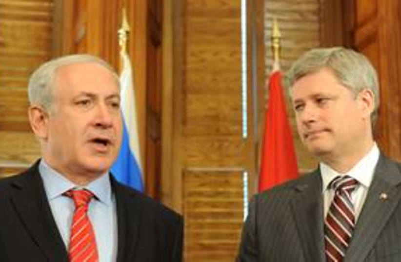 Binyamin Netanyahu and Stephen Harper 311 (photo credit: Courtesy)