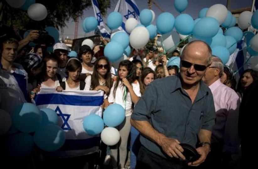 Noam Schalit rally (photo credit: AP)