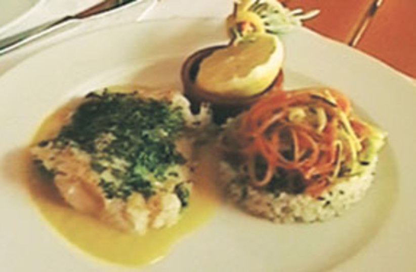 Cod with citrus sauce (food) 311 (photo credit: Courtesy)