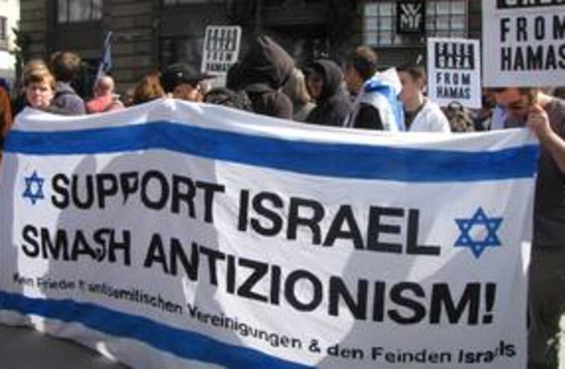 Demo in support of Israel vienna 311 (photo credit: courtesy)