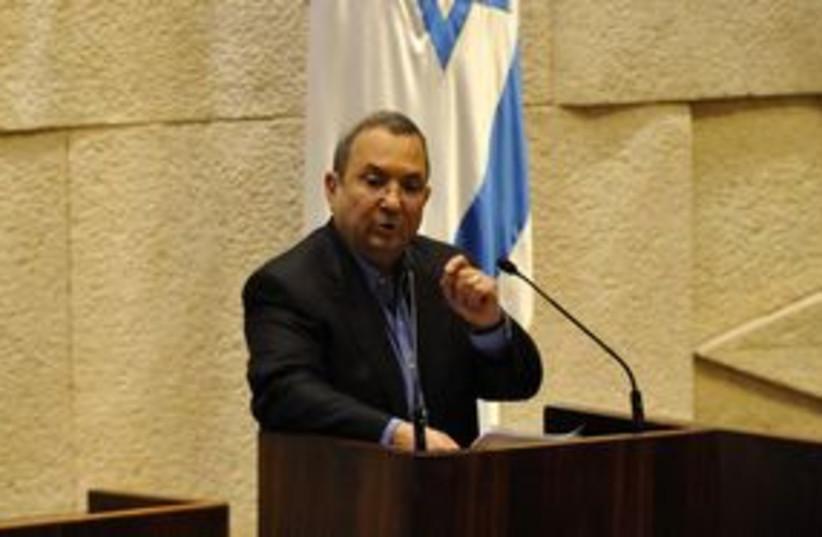 311_Barak in Knesset (photo credit: Courtesy)