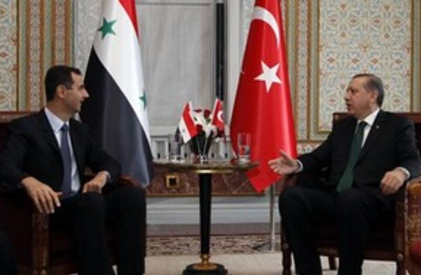 311_erdogan and assad (photo credit: Associated Press)