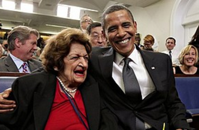 obama helen thomas 311 AP (photo credit: ASSOCIATED PRESS)