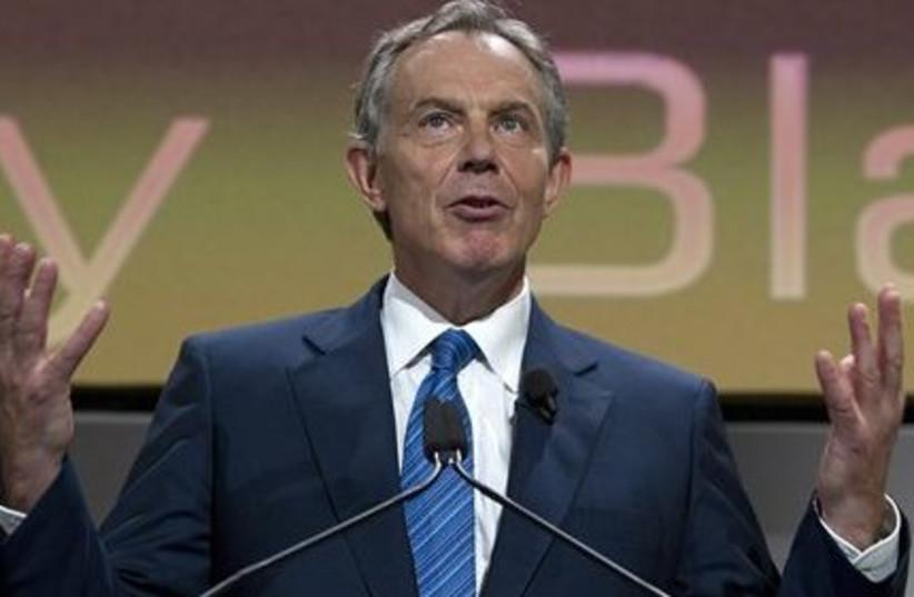 Tony Blair- expressive 311 (photo credit: AP)