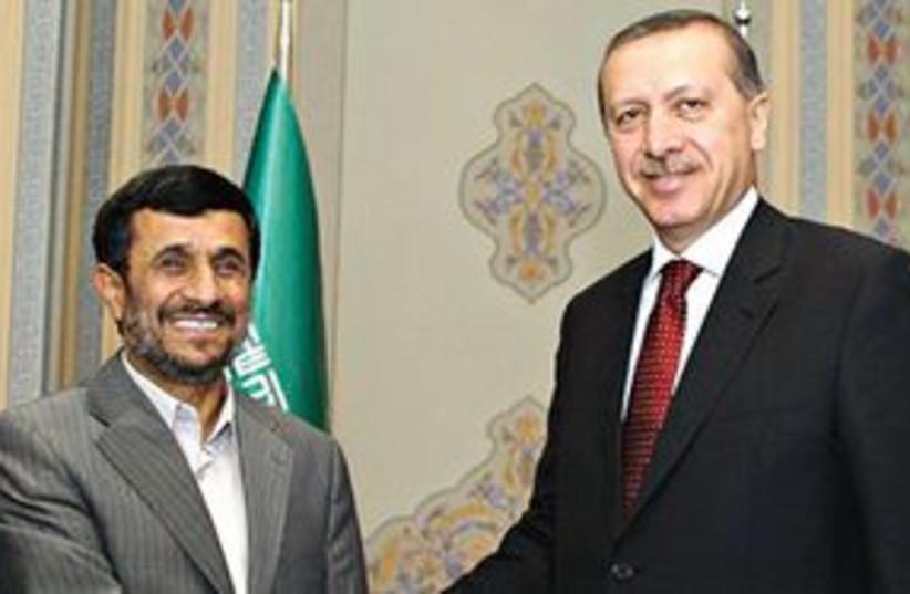311_erdogan and ahmadinejad (photo credit: Associated Press)