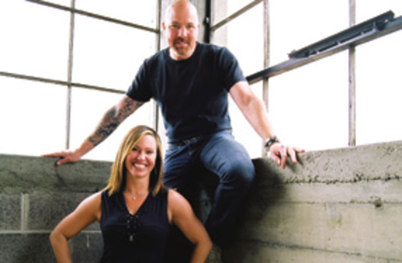 Bill Fritts and Michelle Ricker in his studio 311 (photo credit: Barry Davis)