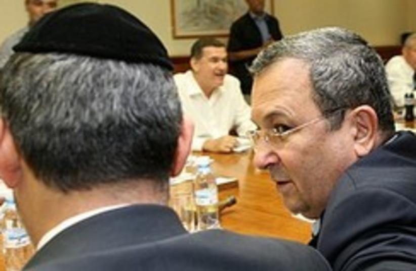 Barak cabinet 298.88 (photo credit: Ariel Jerozolimski)