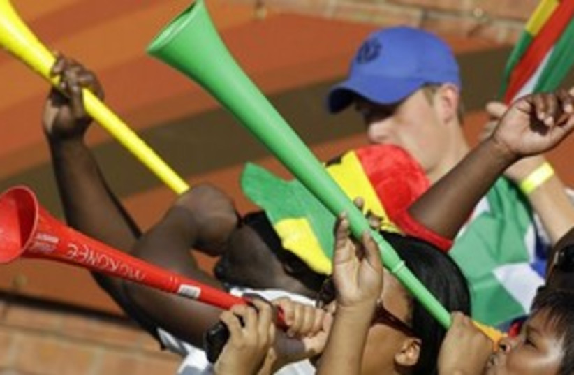 Vuvuzela 311 AP (photo credit: ASSOCIATED PRESS)