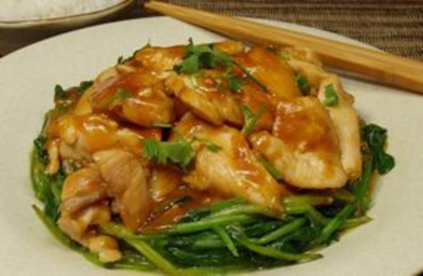 Chicken with Szechuan Peanut Sauce 311 (photo credit: Courtesy)