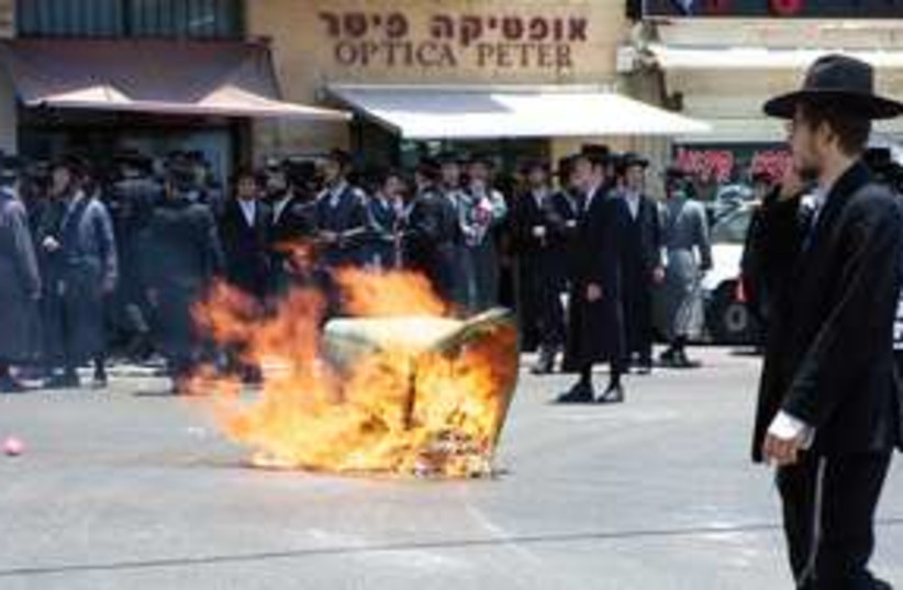 Haredi riots in Jaffa 311 (photo credit: Dan Morgan)