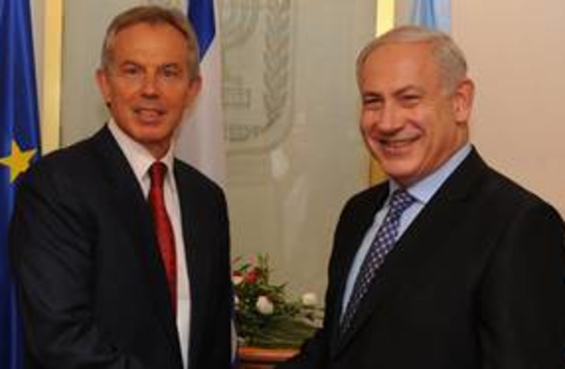 blair netanyahu 311 (photo credit: Moshe Milner, GPO)