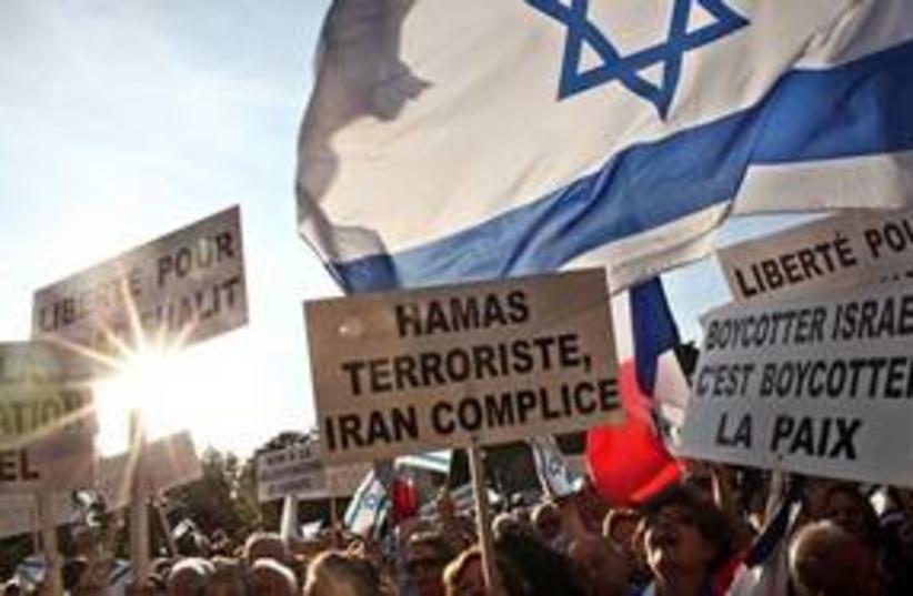 pro schalit protest 311 (photo credit: AP)