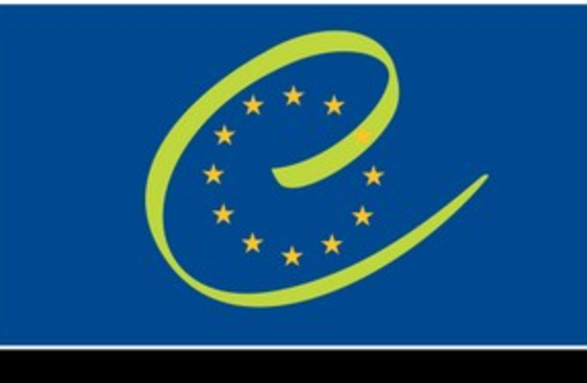 Council of Europe flag 311 (photo credit: Courtesy)