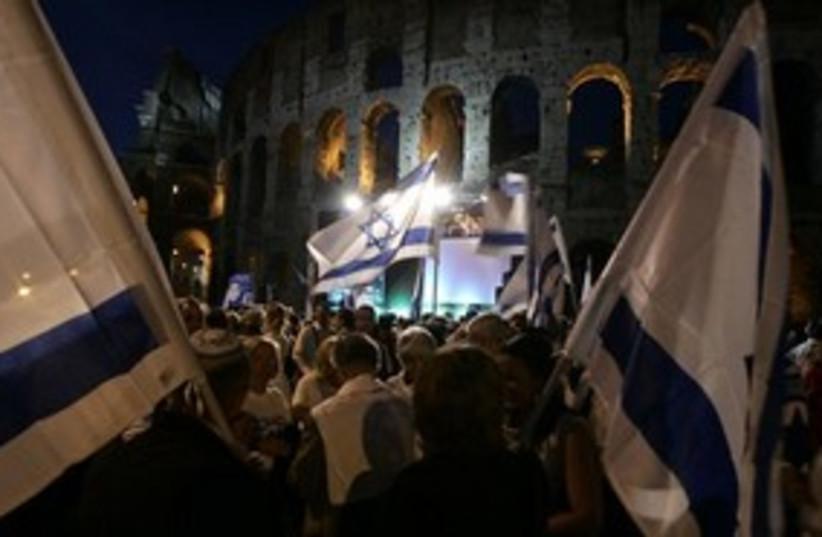 311_Colosseum Schalit (photo credit: Associated Press)
