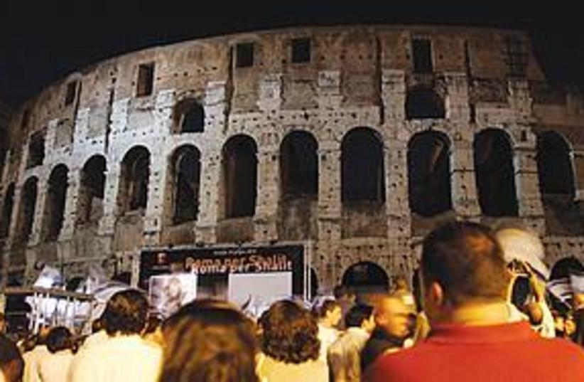 Schalit Rome 311 (photo credit: Riccardo De Luca/AP)