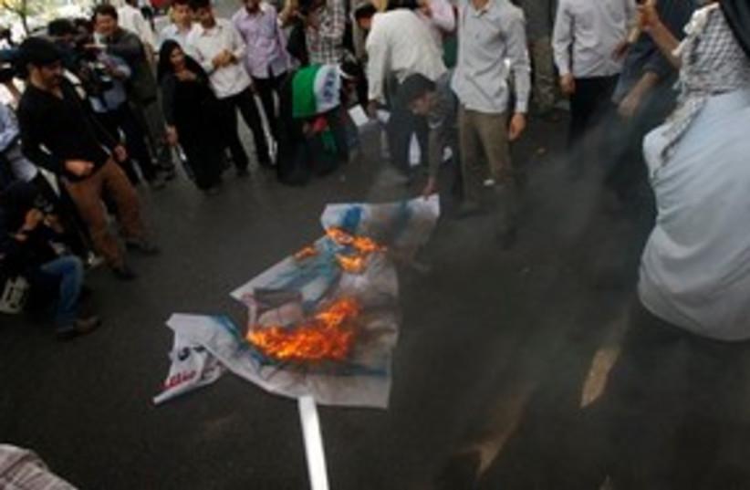 Flag Burning 311 (photo credit: Associated Press)