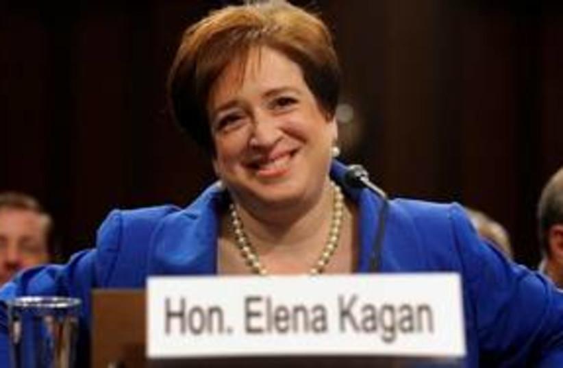 Elena Kagan sign 311 (photo credit: Associated Press)