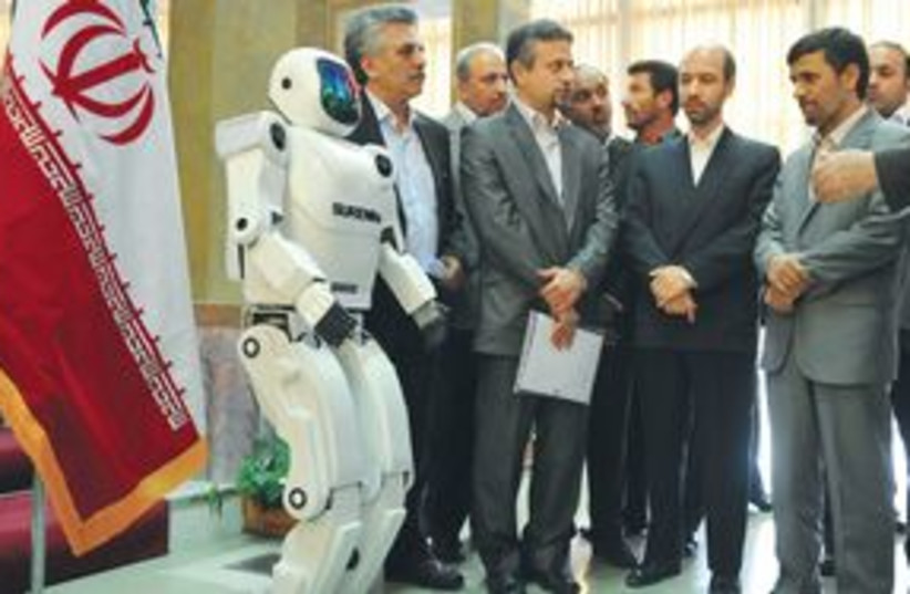 Ahamdinejad robot 311 (photo credit: AP)