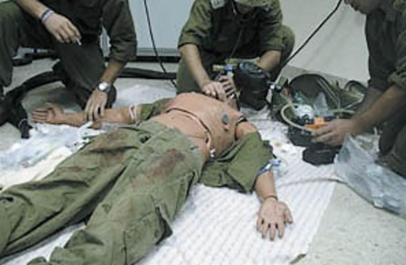 battlefield simulation (photo credit: Sheba Medical Center)