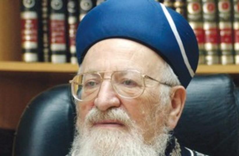 311_Mordechai Eliyahu (photo credit: Ariel Jerozolimski)