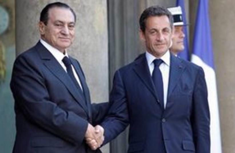 mubarak sarkozy 311 (photo credit: AP)