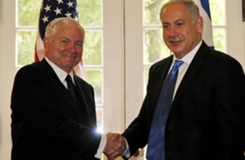 311_Gates and Netanyahu (photo credit: Associated Press)