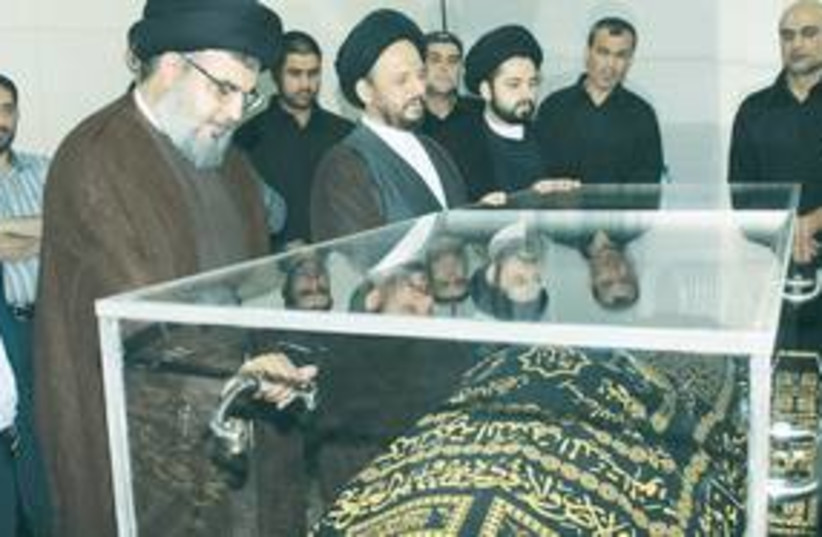 Fadlallah in coffin 311 (photo credit: AP)