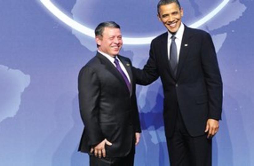 311_Obama and Jordanian king (photo credit: Associated Press)