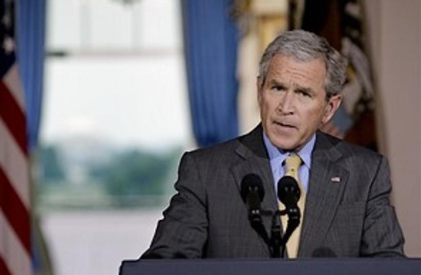 bush speaks 298.88 (photo credit: AP)