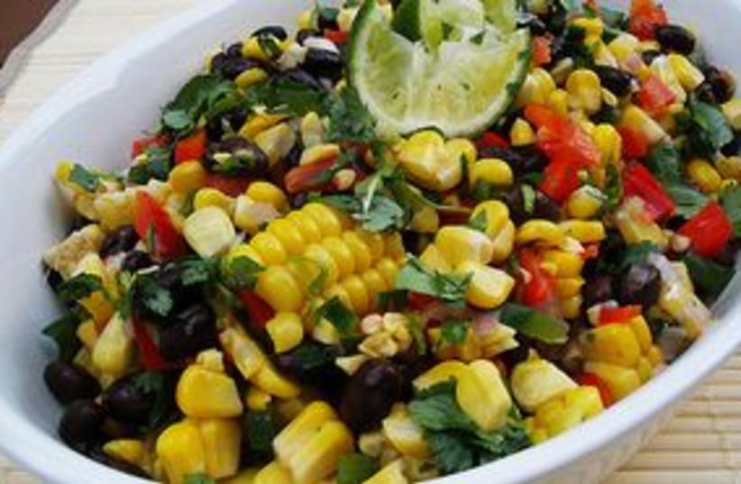311_corn bean salad (photo credit: www.gourmetcooking.com)