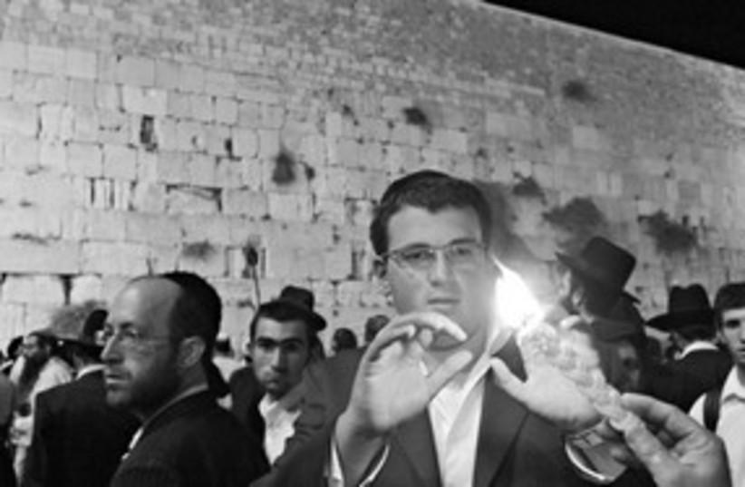western wall prayers 311 (photo credit: Ariel Jerozolimski)