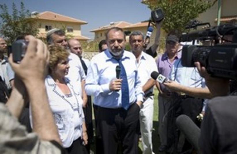 Lieberman Bruchin 311 (photo credit: Associated Press)