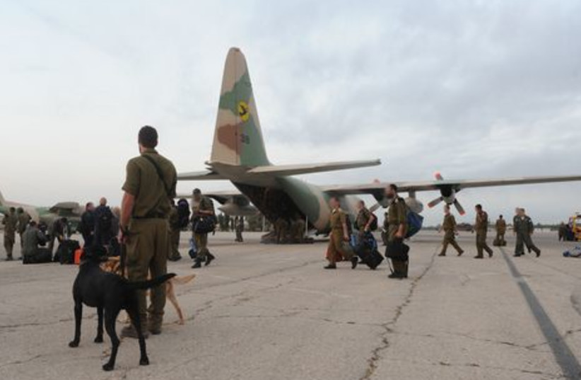 IDF organized a rescue force in Romania during the early morning.