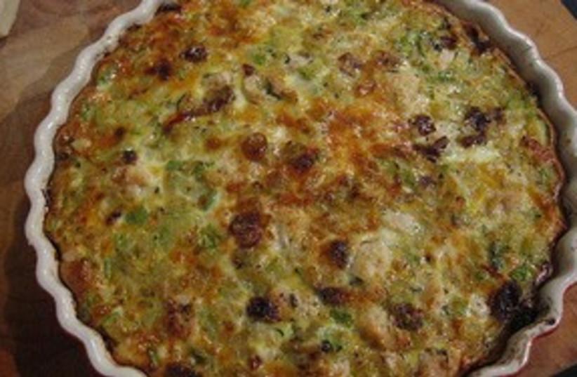 Potato and Zucchini Pie  (photo credit: gourmetkoshercooking)