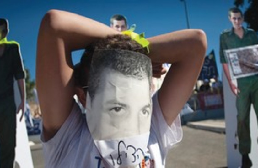 Schalit protest 311 (photo credit: AP)