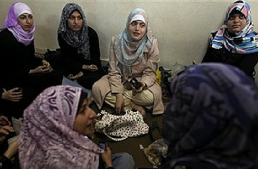 Palestinian women gaza 311 AP (photo credit: Associated Press)