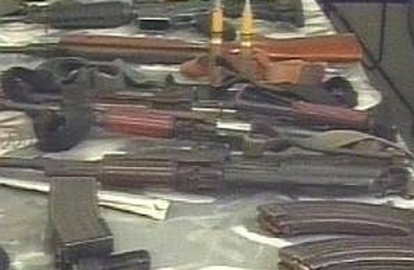 hamas weapons 298.88 (photo credit: Channel Two)
