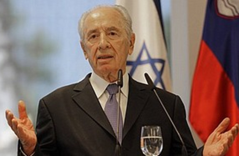 Peres speaking  311 AP (photo credit: Associated Press)