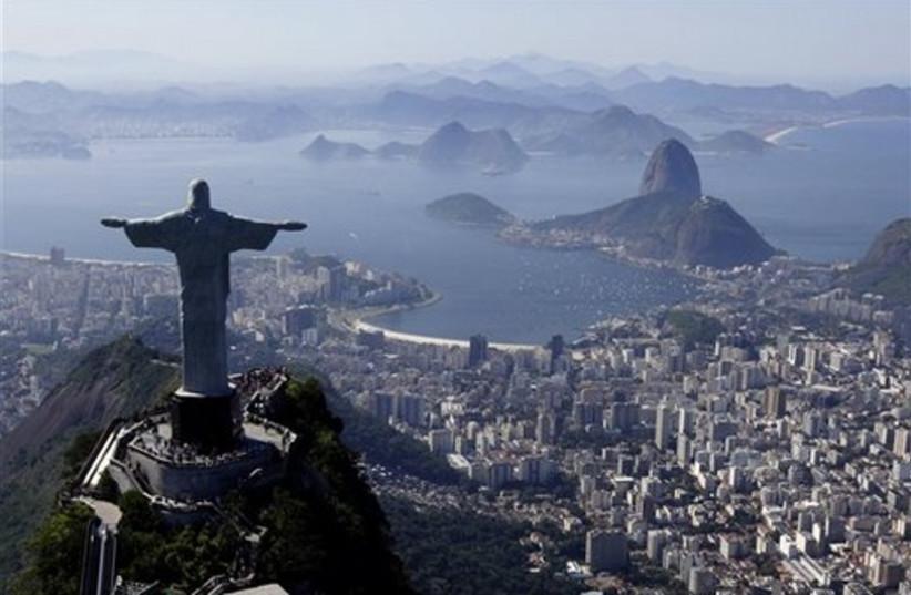 Statue of Jesus in Rio de Janiero (photo credit: AP)
