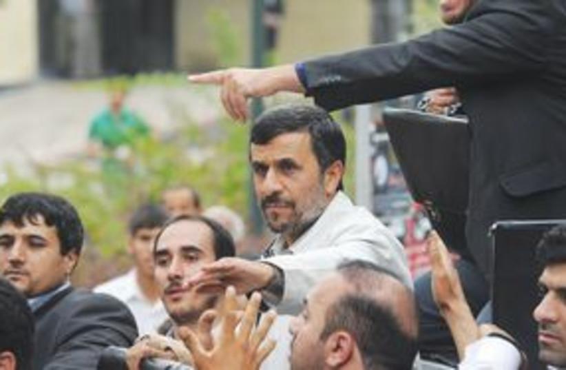 Ahmadinejad crowd 311 (photo credit: Associated Press)