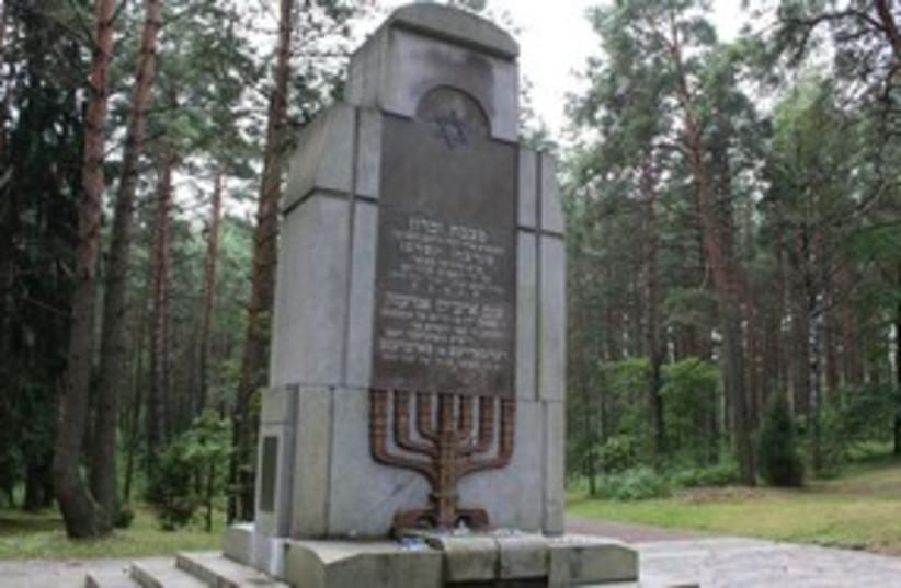 Paneriai Lithuania monument 311 (photo credit: Ricky Ben-David)
