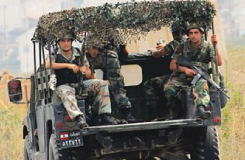 Lebanese Soldiers 311 (photo credit: Associated Press)