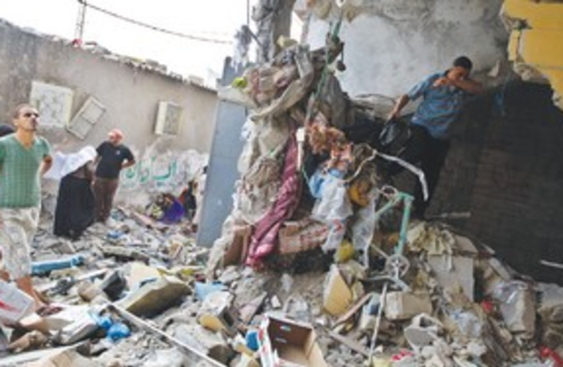 Gaza Explosion 311 (photo credit: associated press)