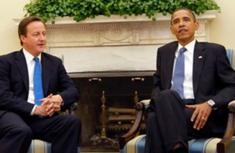 Cameron Obama 311 (photo credit: AP Photo/Pablo Martinez Monsivais)