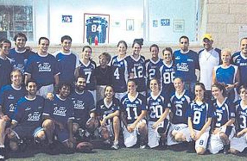 Israeli women's and men's national football teams (photo credit: Courtesy)